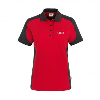 AUDICF-10002-XS_Damen-Polo-Contrast_-rot-anthrazit-_Front