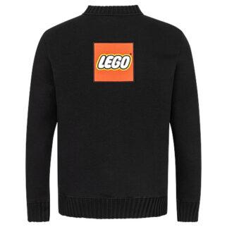 Lego Strickjacke mit Weblabel auf dem Rücken