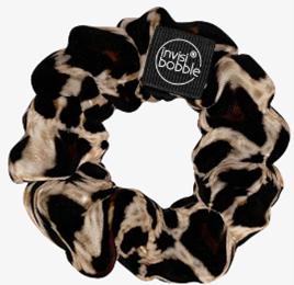 Scrunchie - Haargummi im 90er Jahre Stil, Leopardenoptik